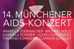 Plakat für das 14. Münchener Aidskonzert