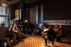 Eli Nakagawa (Violine), Simona Venslovaite (Violine), Indre Mikniene (Viola) und Michael Weiss (Violoncello) im Alten Atelier © Florian Ganslmeier