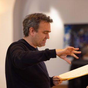 Jörg Widmann in der Probe seines Choralquartetts mit dem MKO. Foto: Florian Ganslmeier