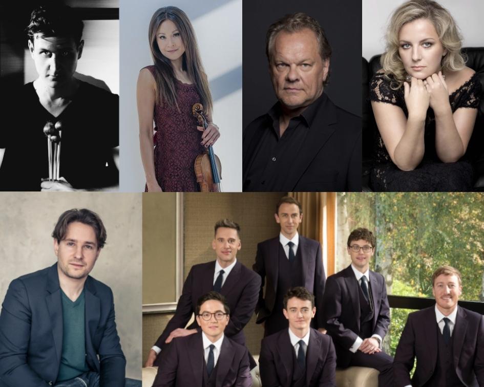 Fotos © Nikolaj Lund (Gerassiemz), Sammy Hart (Steinbacher, Schuldt), Carsten Sander (Volle), Tatyana Vlasova (Scherer), Rebecca Reid (King's Singers)