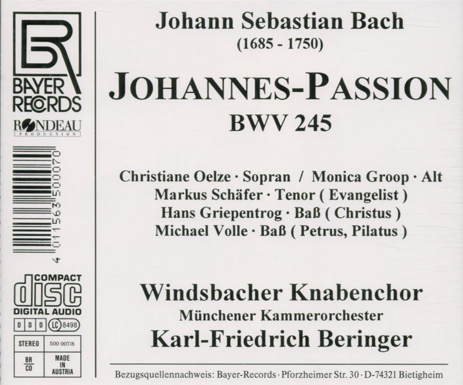 Rondaeu Bayer Records_Johannes-Passion_back