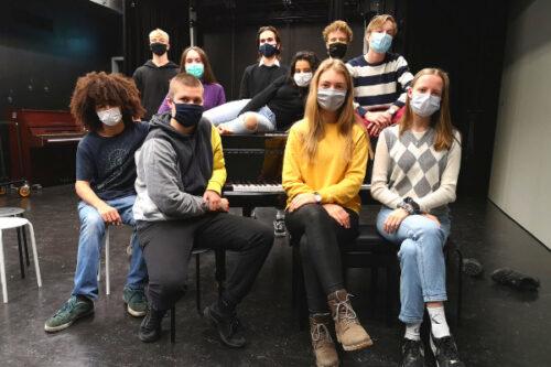 Schülerinnen und Schüler des P-Seminars am Gymnasium Haar