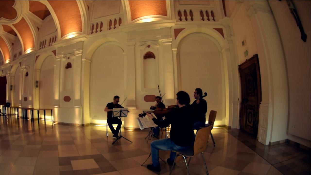 Quartett aus Musikern aus dem Münchener Kammerorchester im Kloster Waldsassen